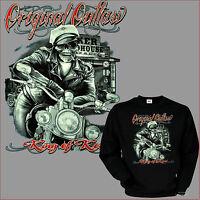 Biker Sweatshirt Chopper Rocker Rider Motorrad Bobber Totenkopf Pullover *4063