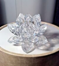 "Swarovski Crystal Figurine ""Waterlily, Medium"" #7600Nr123000"