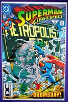 SUPERMAN ACTION COMICS #684 DC UNIVERSE VARIANT 3RD PRINT!!! CRAZY RARE KEY 1992