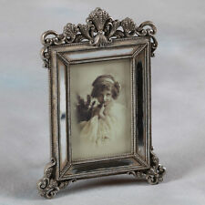 "Ornate Antique Silver Victorian Style Photo Photograph Picture Frame 6 x 4"" Gift"