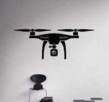Drone Wall Decal Quadcopter Vinyl Sticker Spy Aircraft Home Art Decor 3(nse)
