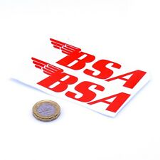 BSA MOTORCYCLES Sticker Badge Decal Vinyle Moto Moto autocollants 100 mm x2