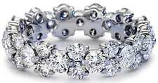 2.50 Ct Round Cut +AAA CZ Eternity Wedding Ring in 14K Solid White Gold Band