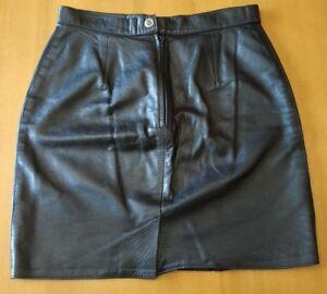 BELLO BOYS minigonna donna vera pelle nera nappa tg 42 M nero nappato mini gonna
