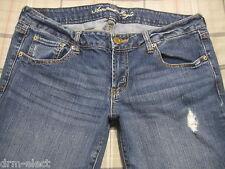 American Eagle Jeans Favorite BoyFriend 12 L Low Rise Stretch 31 Long a8 NICE~!