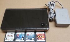 NINTENDO DSI XL BROWN HANDHELD VIDEO GAME SYSTEM - 4 GAMES INCLUDED, W/ CHARGER