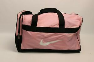 Nike Duffle Bag Overnight Gym Carry-On Pink Black Double Handle Shoulder Strap