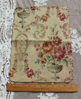 """French Antique c1920 Cotton Jacquard Floral Tapestry Sample Fabric~L-14"""" X W-11"""""""