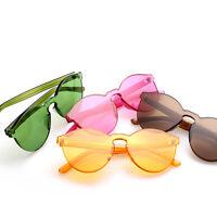 Women Cat Eye Transparent Candy Sunglasses Sun Shades Men Luxury 10 Colors New