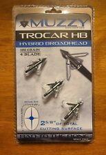 Muzzy Trocar HB Hybrid Broadhead - 100 Grain 4 Blade 2 5/8