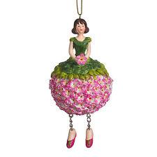 Blumenmädchen Fee Deko Figur Elfe Geranie hängend