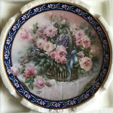 "LENA LIU ""Roses""PLATE with Certificate of Authenticity No.4853R/Box"