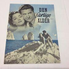 That Dangerous Age Myna Loy Roger Livesey Cummins Vtg 1949 Danish Movie Program