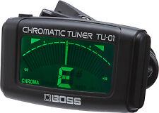 BOSS TU01 Clip-On Chromatic Tuner Accordatore per chitarra, basso e ukulele