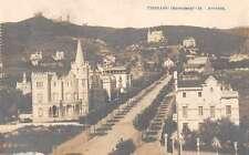 Tibidabo Barcelona Spain Street Scene Real Photo Antique Postcard J50348