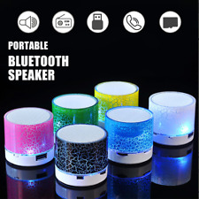 New Wireless Portable Bluetooth Speaker Mini LED Music Audio 5 Colors Can Choose