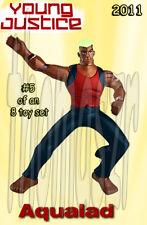 AQUALAD toy figure #5 YOUNG JUSTICE McDonald's McD / WB / DC (2011) NIOP