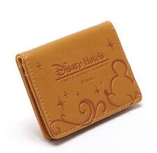 Fashion Cartoon Brown Disney Hotel Mickey Mouse Slim Wallet Card Holder Purse