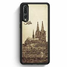 Huawei p20 Pro Silicone Housse Vintage Panorama Cologne Cologne DOM Motif Design skyl