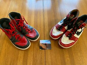 1985 Nike Air Jordan 1 hi og size 12 (Men's) Black/Red and White/Red Pair- RARE