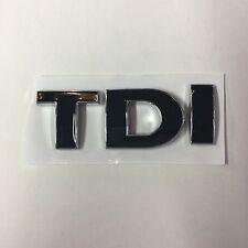 Black & Chrome Outlined TDI Emblem Replaces OEM Volkswagen Fender & Trunk Badge