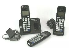 Panasonic Cordless 2 Handset Phone  KX-TGE230 DECT 6.0 w/Digital Answer   GUC