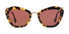 NWT Miu Miu Sunglasses SMU 10N 7S0-0A0 Yellow Havana / Dark Pink 55 mm NIB