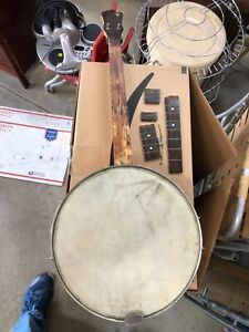 Vintage Antique 1930s? Mystery 4 string Tenor Banjo, Repair