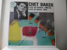CHET BAKER - LIVE IN PARIS (1960-63) - FRANCES-FC 123 - IMPORT - NEW - MINT RARE