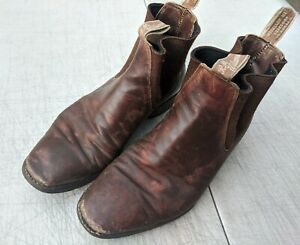 R.M. RM Williams Boots Brown 8 H CF 8H Wide Calf Leather 10.5 W
