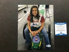 Ashley Force Hot! signed autographed NHRA drag racing 8x10 photo Beckett BAS coa