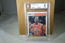 BGS 8 NM/MT 1987 Fleer MICHAEL JORDAN Basketball Card #59 Chicago Bulls