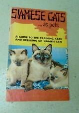 Vintage Siamese Cat Book 1956 Pet Care