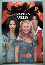 CHARLIE'S ANGELS Original TV Show Cast 1977-78 Vintage Poster near MINT