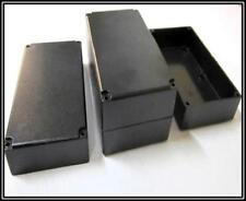 4 gleiche halbe Gehäuse CASE BOX DOSE schwarz ca.120x70x25mm 4 Stück