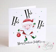 PERSONALISED SANTA CLAUS Christmas Card - Son Grandson Daughter Granddaughter