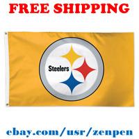 Deluxe Pittsburgh Steelers Team Logo Flag Banner 3x5 ft NFL Football 2019 NEW