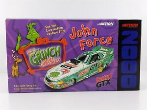 Action John Force CASTROL GTX GRINCH MUSTANG FUNNY CAR 1:24 Diecast 2000 NIB