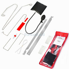 10pcs Car Door Key Lost Lock Out Emergency Open Unlock Tool Kit W/Air Pump Wedge