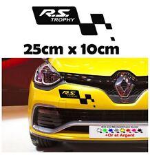 """1x sticker Renault """" RS trophy """" pare choc clio megane RS R.S lame avant"""