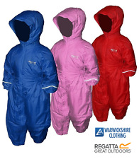 REGATTA WATERPROOF PADDED  ALL IN ONE SNOW SUIT BOYS GIRLS FREE POST
