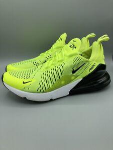 Nike Air Max 270 Mens Sz 10.5 Volt Green Black White Athletic Shoes AH8050-701