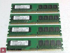 Elpida 4GB (4x1GB) DDR2 PC2-6400U 800MHz EBE10UE8ACWA-8G-E Desktop RAM Memory