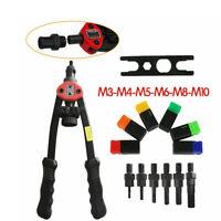 Riveter Gun Kit Hand Rivet Tool Nut Set Heavy Duty Threaded Repair Blind NEW BE