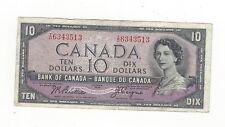 **1954 Devil's Face**Canada $10 Note, Beattie/Coyne BC-32b, Ser# ID 6343513