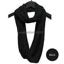 Unisexe Fashion Femmes hommes en jersey doux coton Cercle Infinity Cou Snood écharpe