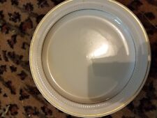 "Lot of 8 Vintage Syracuse China Dinner Plates 10 1/2"" White Gold Rim Style 31-B"