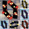 6 Pack Mens Bright Colorful Funky Pattern Odor Control Breathable Bamboo Socks