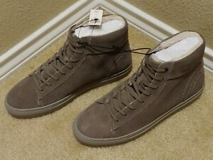 NWT-EXPRESS Men's Gray Leather Faux Fur Lining Lace-Up Boots/Size 8/ Retail $148