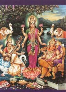 "Postcard Indra Sharma ""Sraswati, Lakshmi, and Ganesh"" 2012 MINT Unused"